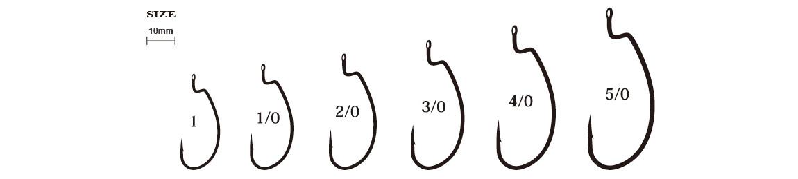 Ryugi Standard Hook Hakengrößen